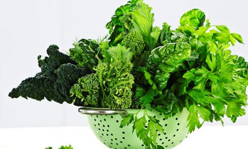 rau xanh bổ sung collagen rất tốt