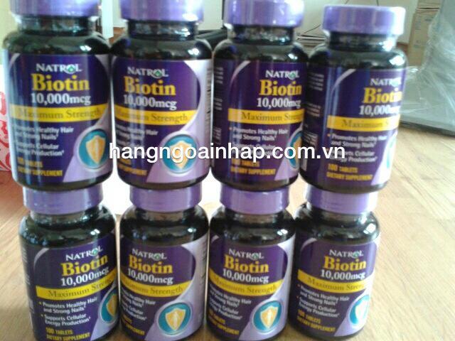 Thuốc chống rụng tóc biotin Natrol
