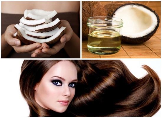trị rụng tóc bằng dầu dừa
