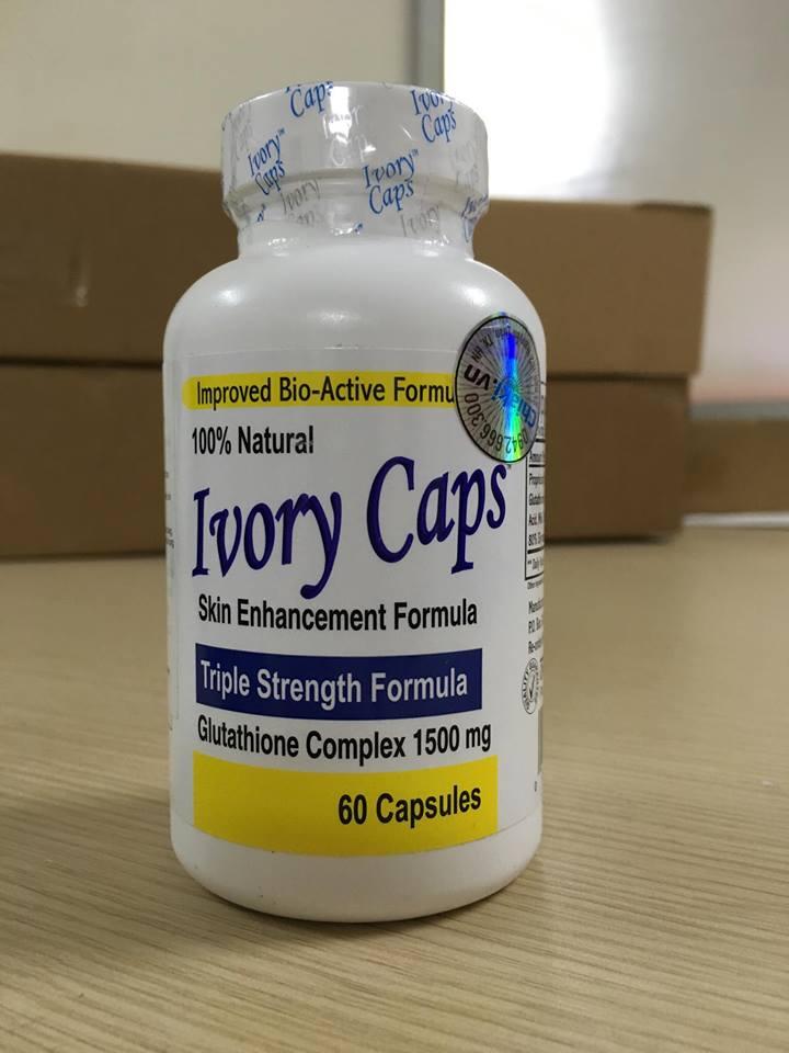 Viên Trắng làn da Ivory Caps Glutathione(60 Viên x 1500mg) của Mỹ