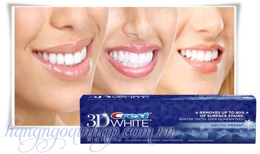 Hướng dẫn sử dụng kem đánh răng 3D Crest White