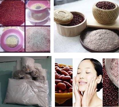 Cách làm trắng da, sạch mụn từ bột đậu đỏ
