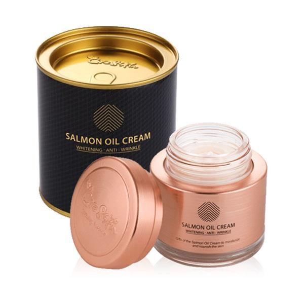 Kem dưỡng da cá hồi Cre8skin Salmon Oil Cream Review