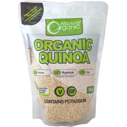 Hạt diêm mạch hữu cơ Absolute Organic Quinoa của Úc Review