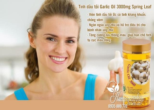 Tinh dầu tỏi Spring Leaf Garlic Oil 3000mg giá tốt nhất thị trường 23