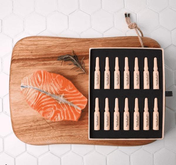 Bộ tinh chất cá hồi Rayblelon Ampoule kèm cây lăn Hàn Quốc 4