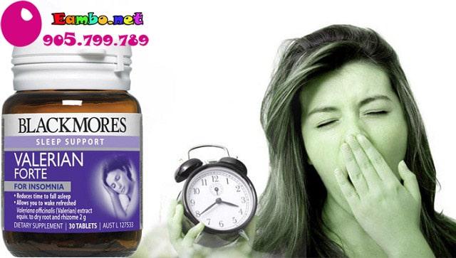 Viên hỗ trợ giấc ngủ Blackmores Valerian Forte 2000mg của Úc 1