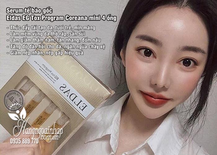 Serum tế bào gốc Eldas Coreana 4 ống Hàn Quốc  3