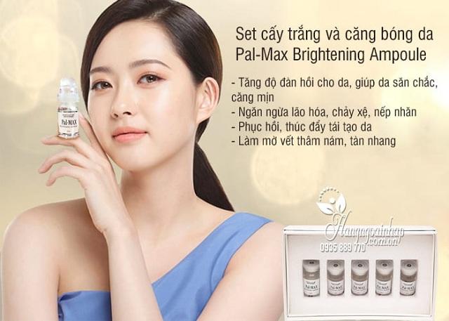Set cấy trắng da Pal-Max Brightening Ampoule của Hàn Quốc 4