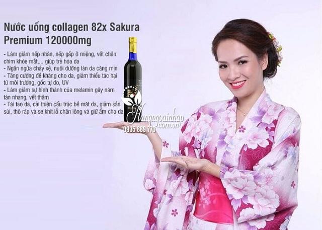 Nước uống Collagen 82x Sakura 120000mg Nhật chính hãng 3