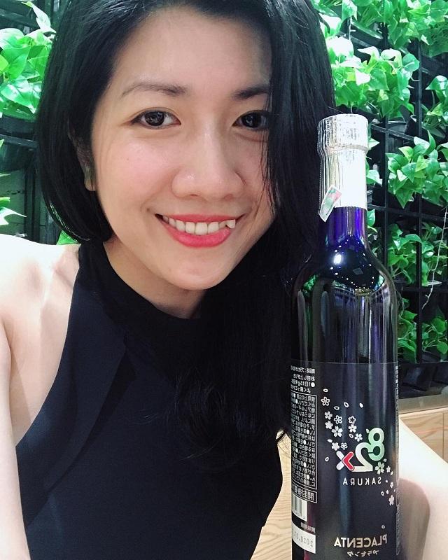 Nước uống nhau thai Placenta 82x Sakura 450000mg chai màu đen 1