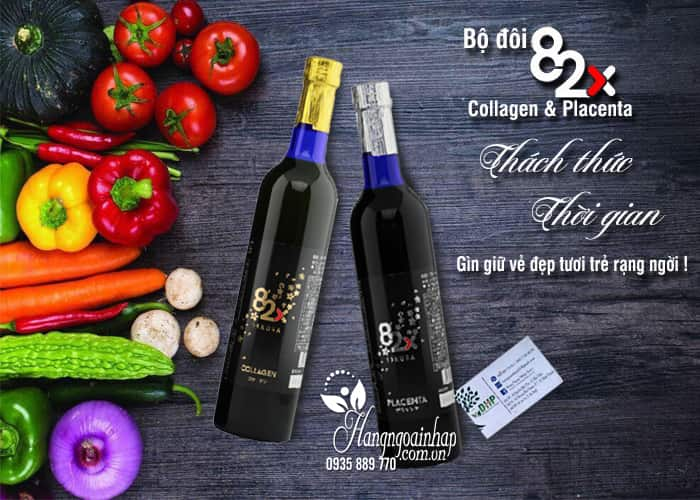 Nước uống nhau thai Placenta 82x Sakura 450000mg chai màu đen 6