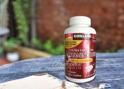 Thuốc giảm đâu Acetaminophen 500mg Kirkland có tốt không-2