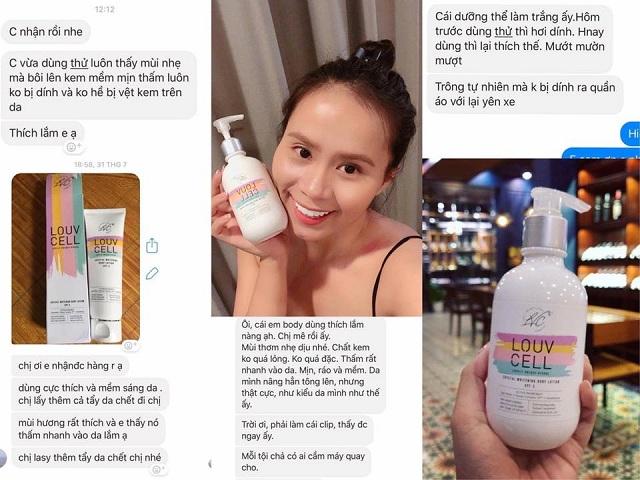Lotion dưỡng trắng toàn thân Louv Cell của Hàn Quốc 2