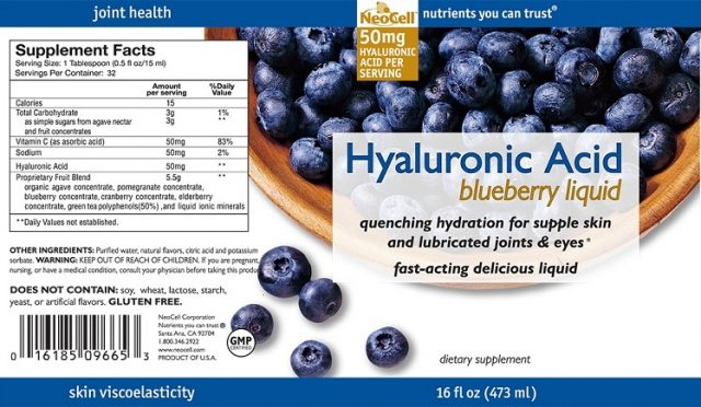 Tinh chất nước việt quất Neocell Hyaluronic Acid Blueberry Liquid 4