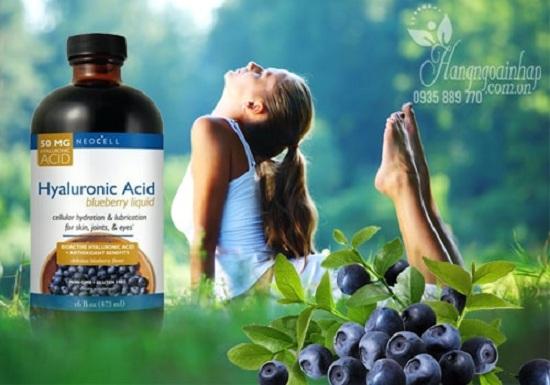 Tinh chất nước việt quất Neocell Hyaluronic Acid Blueberry Liquid 2