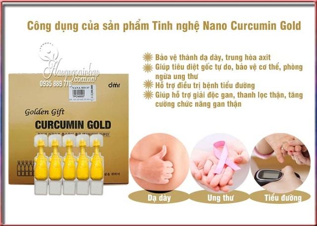 Tinh nghệ nano Curcumin Gold Hàn Quốc - Hộp 50 ống, 100 ống 2