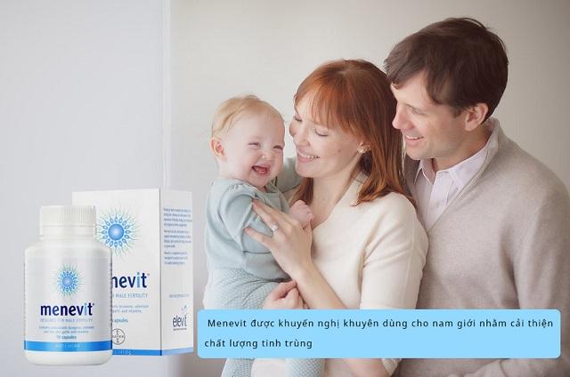 Thuốc Menevit 90 viên của Úc, hỗ trợ sức khỏe sinh sản nam giới 1