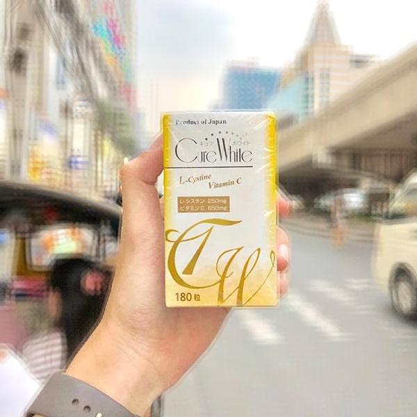 Viên uống trắng da Cure White L-Cystine Vitamin C của Nhật, giá tốt