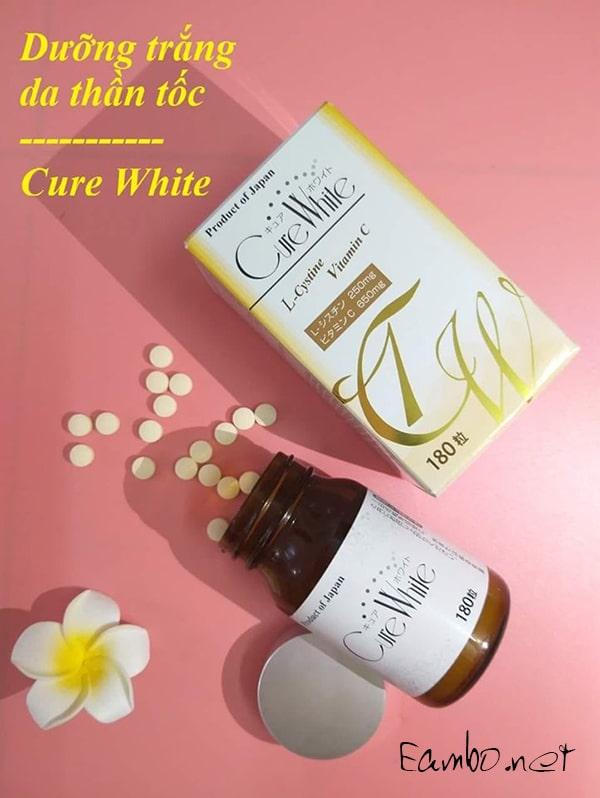 Viên uống trắng da Cure White L-Cystine Vitamin C của Nhật, giá tốt 1