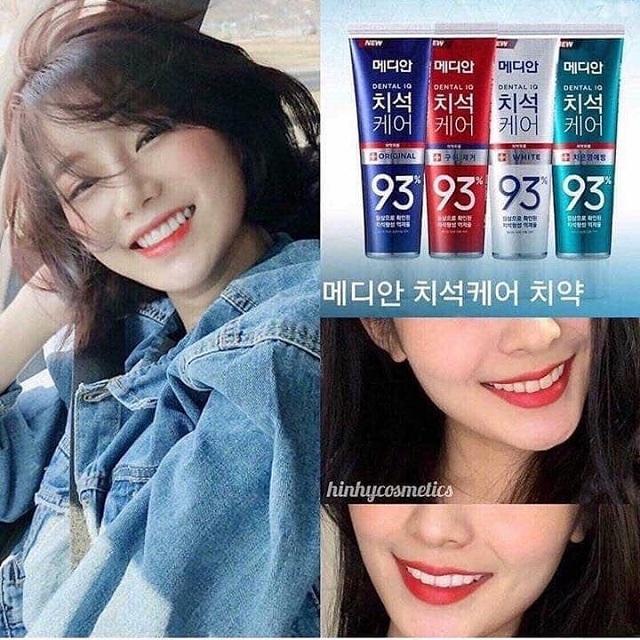 Kem đánh răng Hàn Quốc Median 93, hàng xách tay đủ 4 màu 4