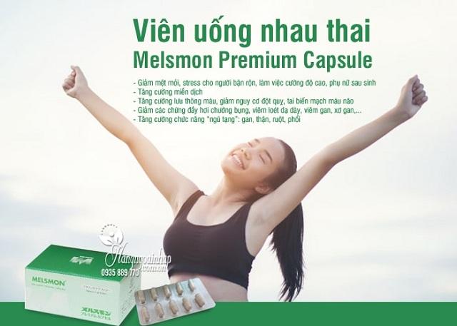Tế bào gốc nhau thai Melsmon Premium Capsule 120 viên của Nhật 3