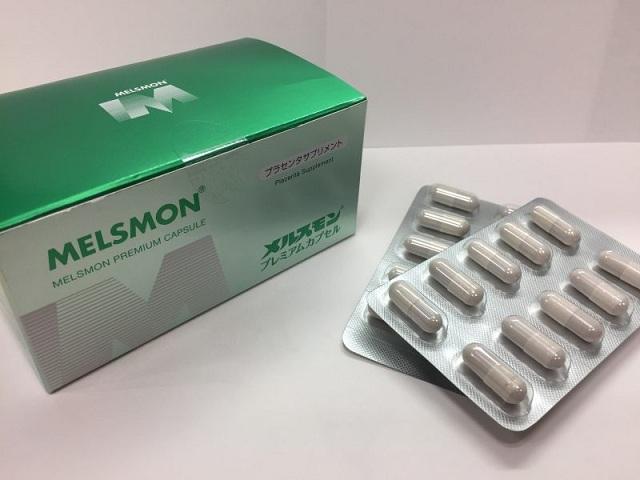 Tế bào gốc nhau thai Melsmon Premium Capsule 120 viên của Nhật 1