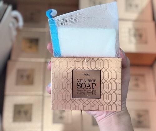 Soap rửa mặt Genie Vita Rice có tốt không-2