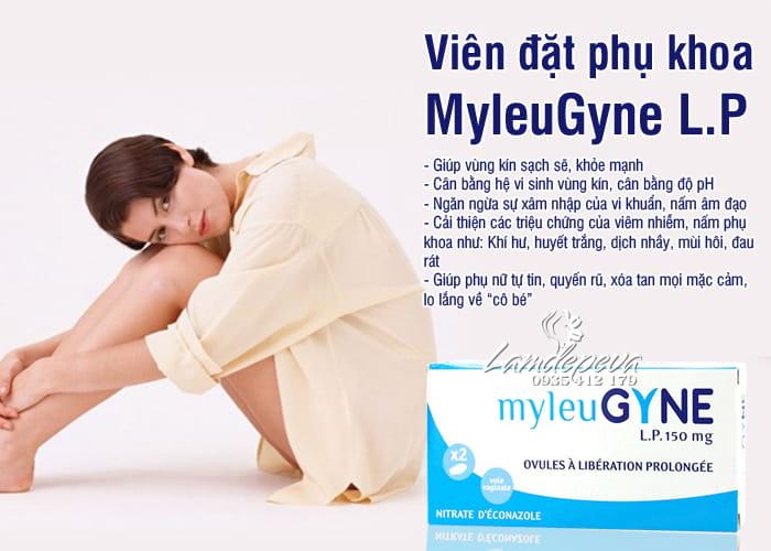Viên đặt phụ khoa MyleuGyne L.P 150mg trị nấm, viêm âm đạo 1