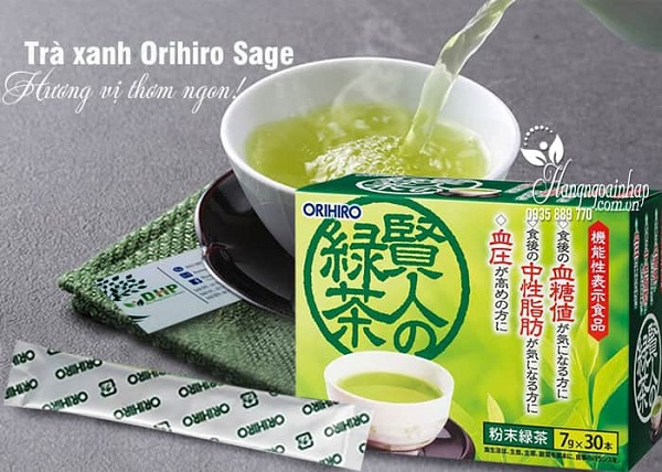 Trà xanh Orihiro Sage Nhật làm giảm mỡ máu tốt nhất 2