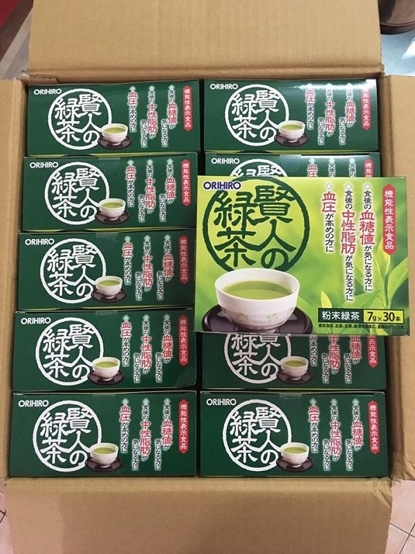 Trà xanh Orihiro Sage Nhật làm giảm mỡ máu tốt nhất 8