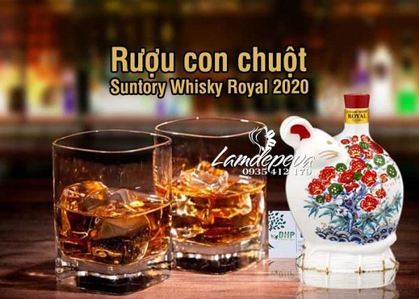Rượu con chuột Suntory Whisky Royal Tết 2020 độc đáo 3