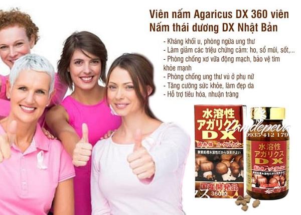 Nấm Agaricus DX 360 viên Nhật Bản tăng cường sức khỏe 3