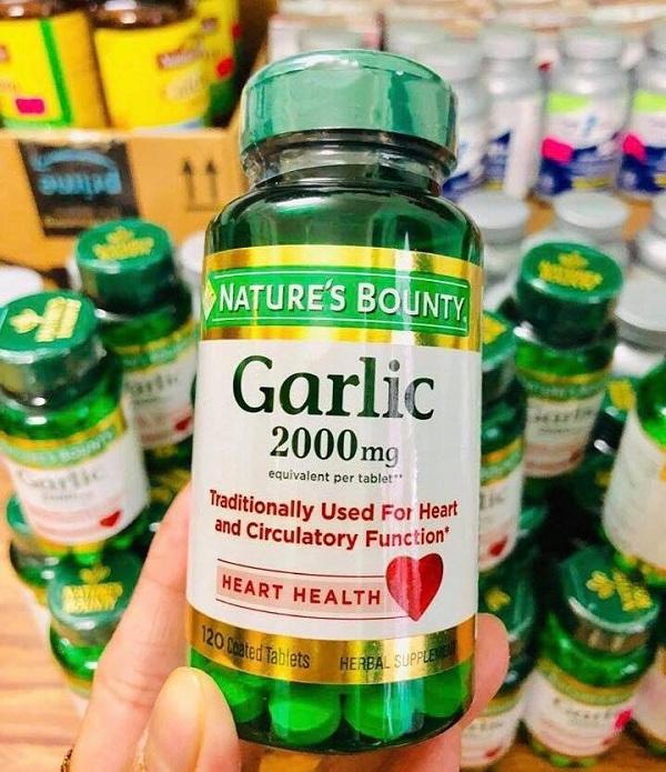 Tinh dầu tỏi Garlic 2000mg Nature's Bounty của Mỹ chính hãng 2