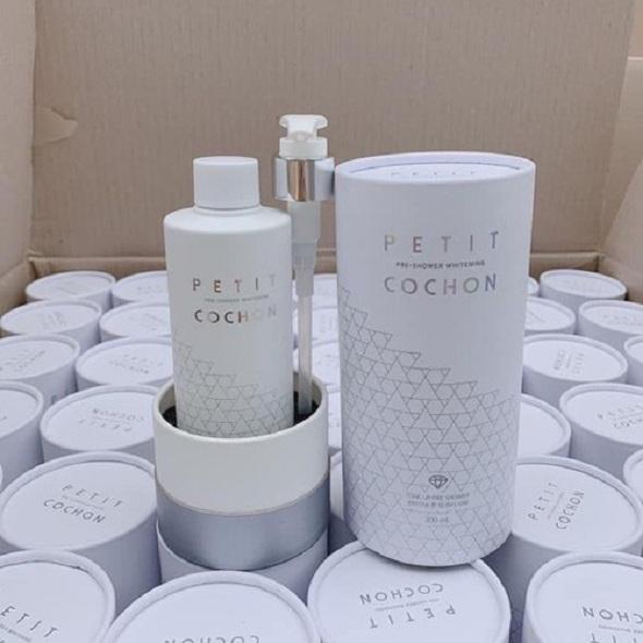 Sữa tắm trắng Peptide Cochon review từ khách hàng