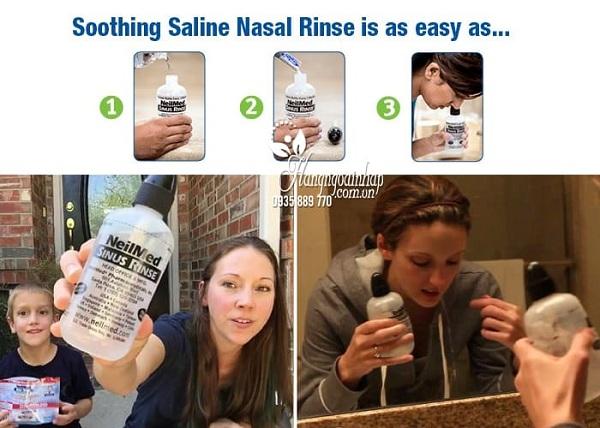 Bộ rửa mũi NeilMed Sinus Rinse bình 240ml và 50 gói 6