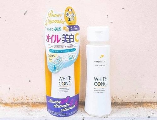 Dầu dưỡng trắng da White Conc có tốt không?