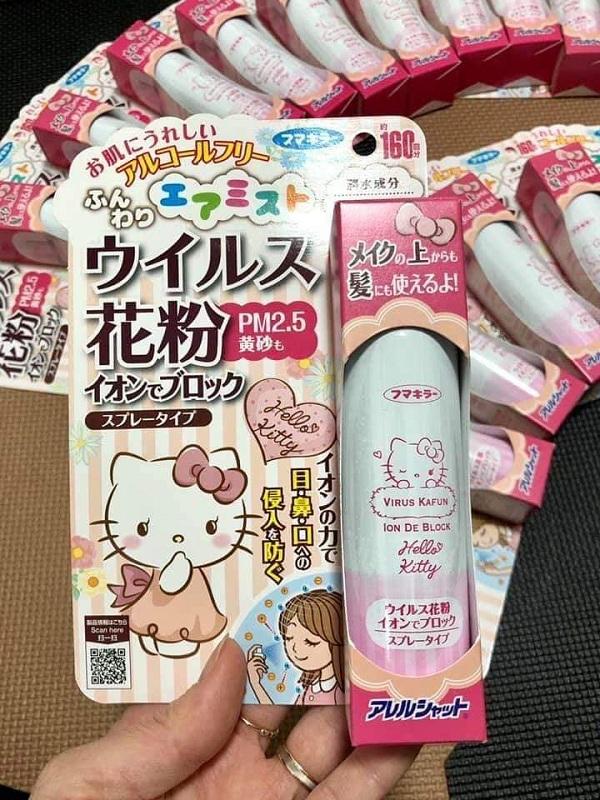 Xịt chống virus Hello Kitty Virus Kafun Ion De Block Nhật 1