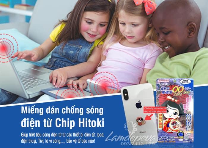 Miếng dán triệt sóng điện từ Chip Hitoki Nhật, bảo vệ não 6