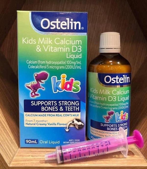 Ostelin Calcium & vitamin D3 dạng nước cho bé trên 7 tháng 1