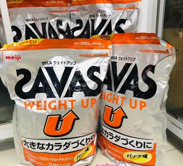Sữa tăng cân của Nhật cho người lớn Savas Weight Up 1