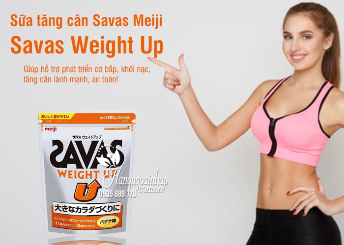 Sữa tăng cân của Nhật cho người lớn Savas Weight Up 5