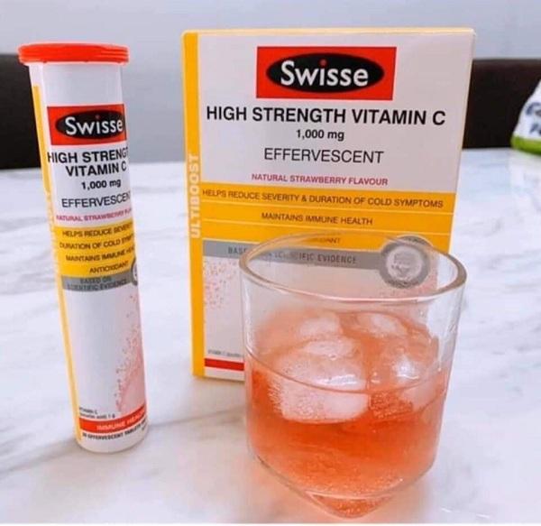 Swisse High Strength Vitamin C 1000mg dạng viên sủi Úc 1