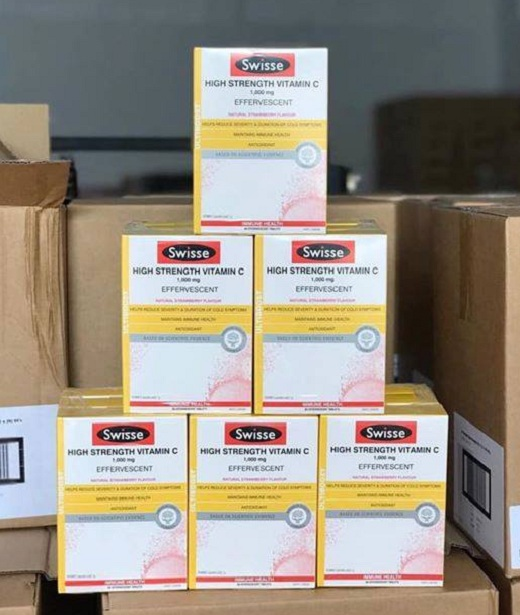 Swisse High Strength Vitamin C 1000mg dạng viên sủi Úc 5