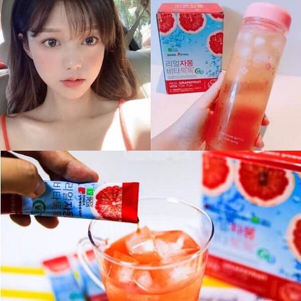 Nước uống Sanga Real Grapefruit Vita Tok Tok, nước ép bưởi đỏ 3