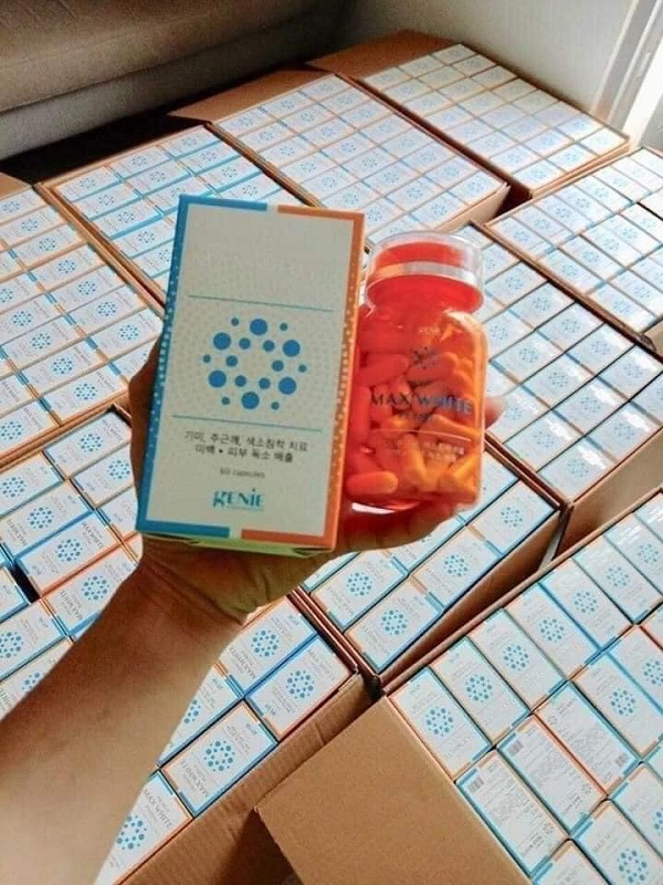 Viên uống trắng da Max White Plus 2020 Hàn Quốc sau 1 tháng 9