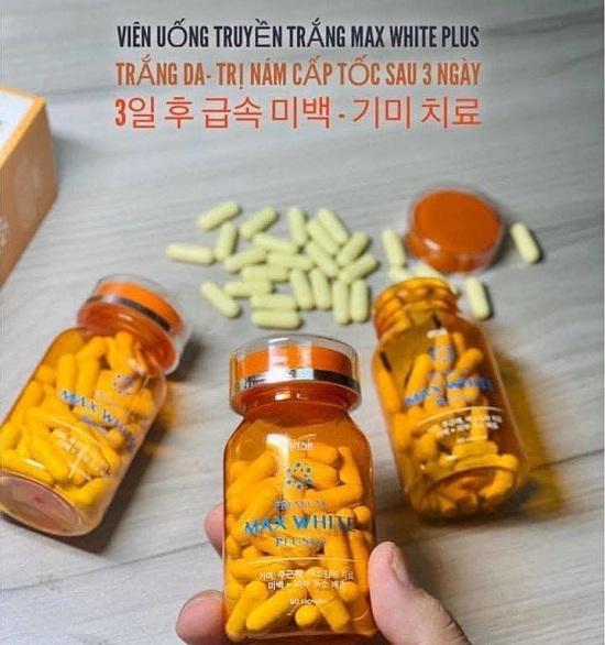 Viên uống trắng da Max White Plus 2020 Hàn Quốc sau 1 tháng 1
