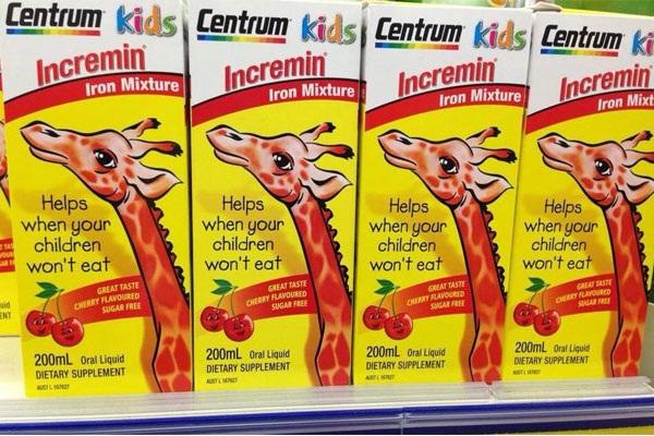Vitamin cho bé biếng ăn Centrum Kids Incremin 200ml của Úc 7