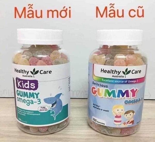 Kẹo dẻo Gummy Omega 3 Healthy Care Úc hộp 250 viên 6