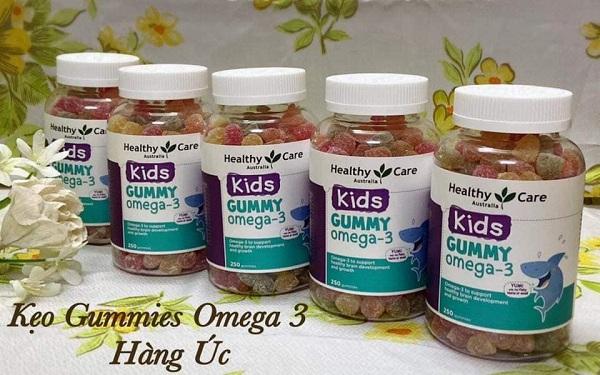 Kẹo dẻo Gummy Omega 3 Healthy Care Úc hộp 250 viên 3